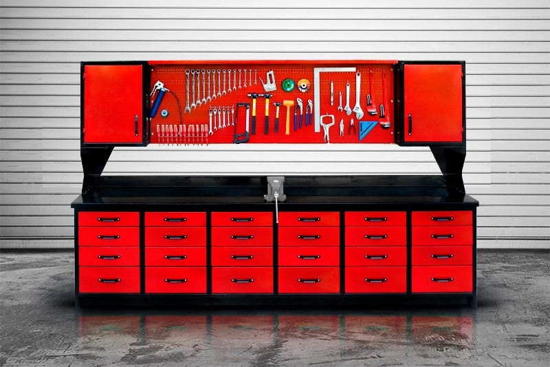 Heavy Duty Workbench Upper Cabinets Mctavish Steelworks